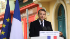 Frankreichs Präsident Emmanuel Macron in Ajaccio, Korsika.