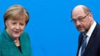 Bundeskanzlerin Angela Merkel und SPD-Chef Martin Schulz.