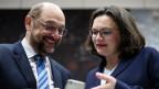SPD-Chef Martin Schulz und Andrea Nahles.