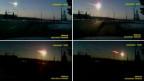 Fernsehbilder des Meteoriteneinschlags in Russland