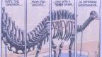 «Dippy», der Dinosaurier mit Walfisch-Skelett, trägt den Kopf von Jacob Rees-Mogg. «Dippy» bedeutet umgangssprachlich schräg, exzentrisch.