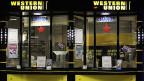 Western Union Schalter im Hauptbahnhof München.