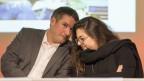 Christian Levrat, SP-Präsident, und Tamara Funiciello, Präsidentin Juso, an der DV in Altdorf.