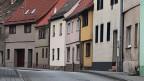 Leere Strassen im leeren Ermsleben in Sachsen-Anhalt. Bild: Peter Voegeli.