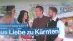 Wahlplakat in Klagenfurt. Bild: Joe Schelbert.