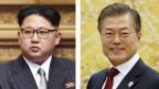 Der nordkoreanische Machthaber Kim Jong Un und der südkoreanische Präsidenten Moon Jae.