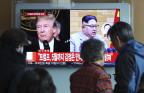 Das nordkoreanische Fernsehen berichtet über das angekündigte Treffen.