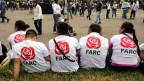 FARC-Unterstützer FARC an einer politischen Veranstaltung in Bogota am 27. Januar 2018.