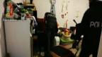 La Polizia di Stato am 29. März 2018 bei der Operation in der Nähe von Rom, während der fünf Personen verhaftet wurden.