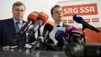 SRG-Präsident Jean-Michel und Direktor Gilles Marchand nehmen Stellung zum Sparprogramm.
