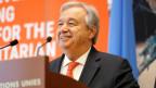 Uno-Generalsekretär Antonio Guterres an der Geberkonferenz in Genf.