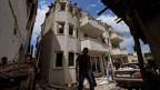 Zerstörte Häuser in der Stadt Kumanovo nach einem Gewaltausbruch zwischen der mazedonischen Polizei und einer bewaffneten Gruppe im Mai 2015.