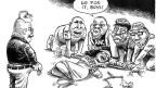 Die Vergewaltigung der Justiz durch Jacob Zuma. Cartoon von Zapiro. ZVG.