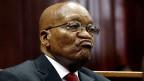 Der ehemalige südafrikanische Präsident Jacob Zuma am 6. April 2018 am KwaZulu-Natal High Court in Durban, Südafrika.