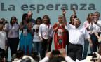 Der mexikanische Präsidentschaftskandidat Andres Manuel Lopez Obrador bei einer Wahlkampfveranstaltung in Ciudad Juarez.