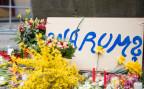 Blumen am Tatort in der Innenstadt von Münster.