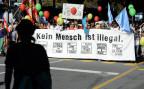 Eine Demontration für die Sans-Papier in Bern (2011).