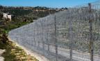 Der israelische Grenzzaun in der Nähe von Jerusalem.