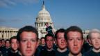 Viele «Zuckerbergs» vor dem Kapitol in Washington am 10. April 2018.