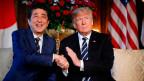Shinzo Abe, Japans Premierminister (links) und Donald Trump, US-Präsident.
