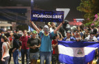 Anti-Ortega-Demonstraten in Managua