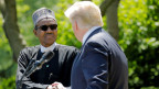 US-Präsident Donald Trump und Nigerias Präsident Muhammadu Buhari im Weissen Haus.