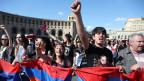 Demonstrationen in Armenien am 2.5.2018.