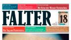 Der Kopf der Wiener Zeitschrift «Falter».
