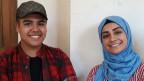Der 20jährige Sajat (links) möchte Maler werden und Ghrorfran (22) macht Schmuck.