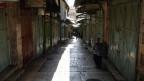 Drei Tage Trauer in Jerusalem. Ein Blick auf geschlossene Geschäfte auf dem Markt in der Altstadt am 15. Mai 2018.
