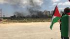 Proteste am 70. Jahrestag von Nakba in der Nähe von Ramallah.