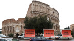 Wahlkampf vor dem Kolosseum in Rom.
