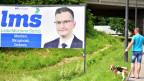 Wahlplakat mit Marjan Sarec.