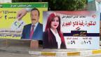 Wahlplakat in Bagdad.