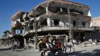 Zerstörtes Gebäude in Raqqa, Syrien.