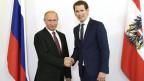Der russische Präsident Wladimir Putin (links) und der österreichische Bundeskanzler Sebastian Kurz.