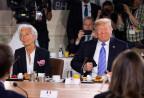 Lagarde und Trump am G7-Gipfel-Frühstück in Kanada