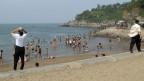 Öffentlicher Strand in Nordkorea.