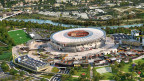 So soll das neue Fussballstadion in Rom einmal aussehen.