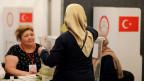 Türkisches Wahllokal in Deutschland.