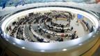 Tagung des Menschenrechtsrates in der Europazentrale der Vereinten Nationen in Genf.