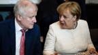 Deutschlands Innenminister Horst Seehofer (links) und Bundeskanzlerin Angela Merkel.