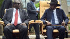 Riek Machar, ehemaliger Vizepräsident (links) und Salva Kiir, Präsident Südsudan.