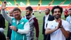 Tschetscheniens Präsident Ramsan Kadyrow (links) und Mohammed Salah, Stürmer der ägyptischen Fussballmannschaft.