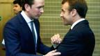 Sebastian Kurz und Emmanuel Macron in Brüssel