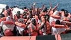 Flüchtlinge vom Schiff Aquarius.