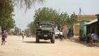 Äthiopische Armeepatrouille in Badme, Territorialstreitstadt zwischen Eritrea und Äthiopien.