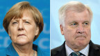 Angela Merkel, deutsche Bundeskanzlerin, CDU (links) und Hors Seehofer, bayerischen Ministerpräsidenten Horst Seehofer (CSU)