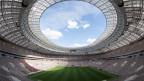 Das Fussballstadion Luzhniki in Moskau, Russland, in welchem der Finalmatch der WM stattfinden wird.