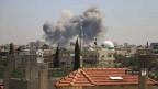 Die südsyrische Stadt Daraa unter Beschuss.
